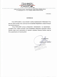 Referencje Agencja Smerek Kantor